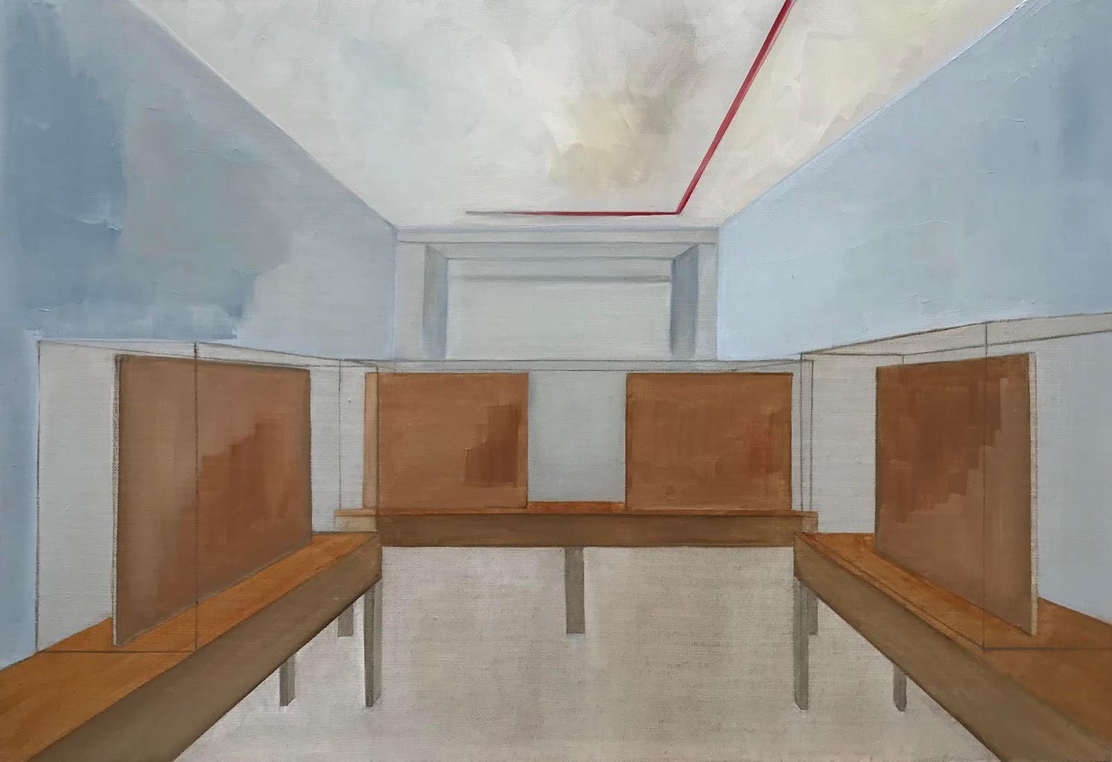 Tess Tanie, huile sur toile, 50 x 73 cm
