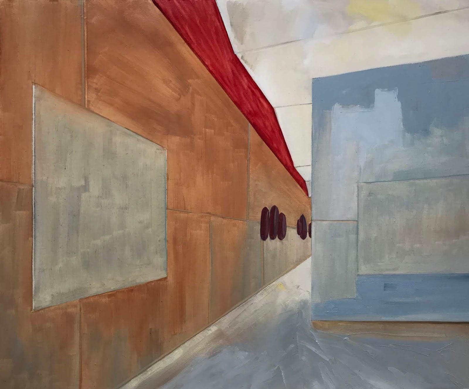 Eva Glass, huile sur toile, 54 x 65 cm