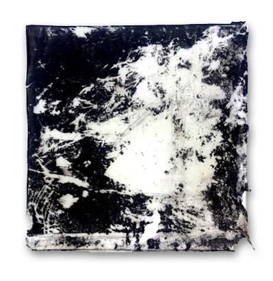 Tile IV,  2016,  mixed media on vinilic glue