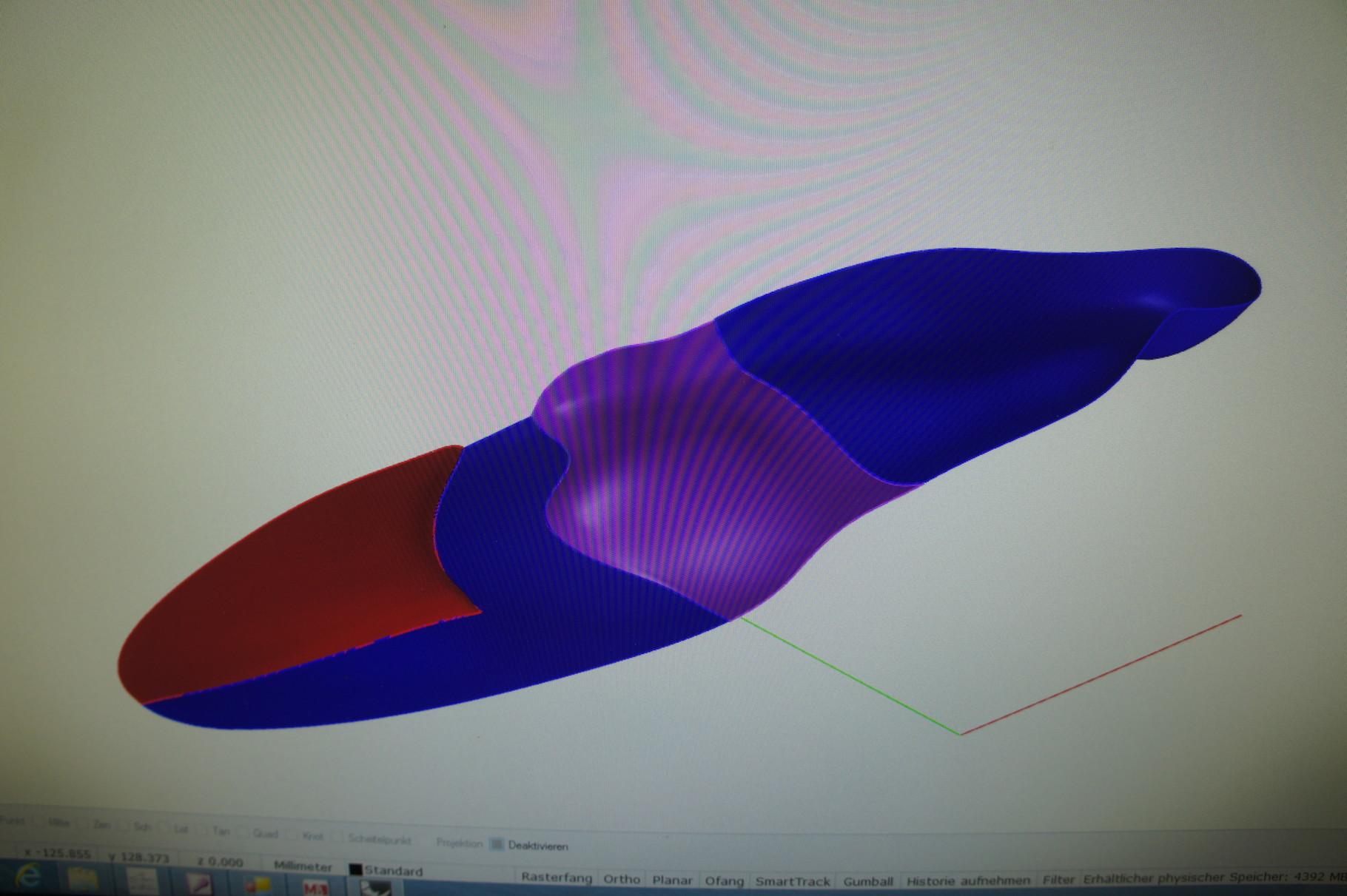CAD Modell Sensomotorische Einlage