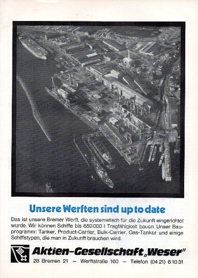 Werbeanzeige Juni 1974