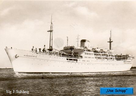 """Das Schiff, die """"Karadeniz"""", ist fertiggestellt und geht auf die Werftprobefahrt"""