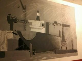 Wandbild im Gebäude, der Künstler ist mir nicht bekannt