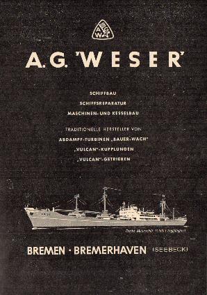Werbeanzeige Jan. 1958