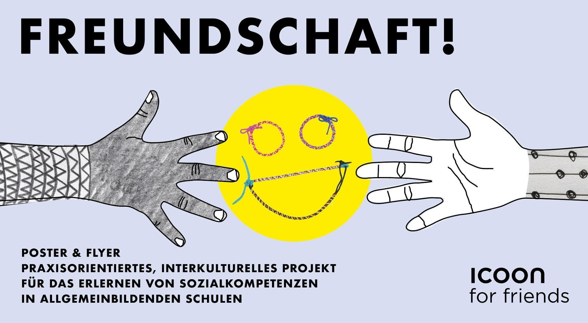 So geht Freundschaft – Plakat für Kinder mit Tipps zum Mitmachen