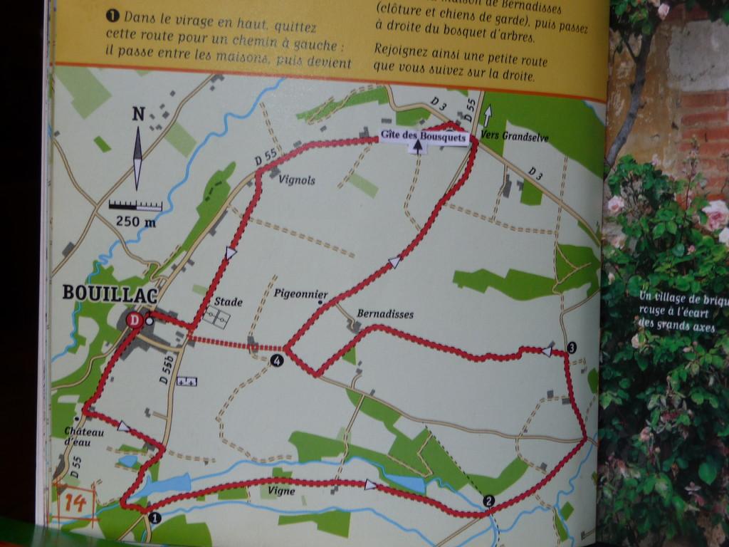 2 parcours parmi tant d'autres à Bouillac le PR5 et le PR6,
