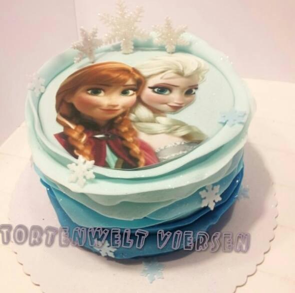 Eiskönigin Torte 89 Euro Frozen Cake