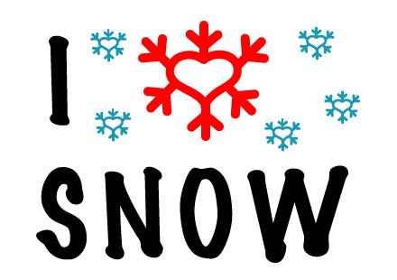 "Postkarte ""I LOVE SNOW"" Vorderseite"