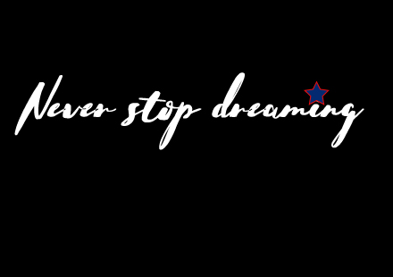 never stop dreaming, Vorderseite