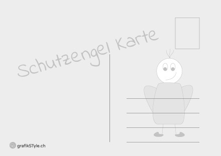"Postkarte ""Schutzengel"" Rückseite"