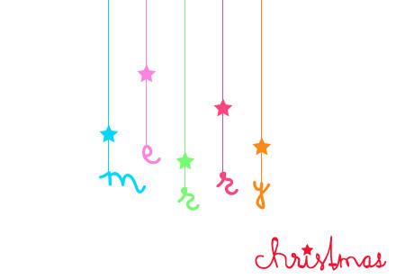 """Postkarte """"merry christmas"""" Vorderseite"""