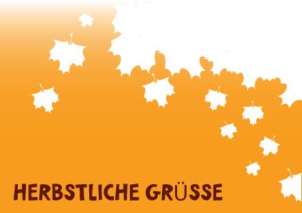 """Postkarte """"Herbstblätter"""" Vorderseite"""