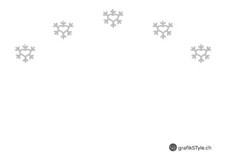 "Postkarte ""I LOVE SNOW"" Rückseite"