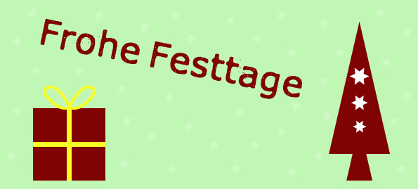 """Postkarte """"Frohe Festtage"""" Vorderseite"""