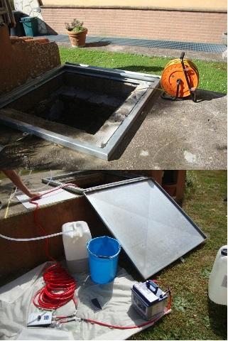Misure piezometriche e campionamento acque di falda da pozzo e piezometri in modalità low flow purging per indagini ambientali.