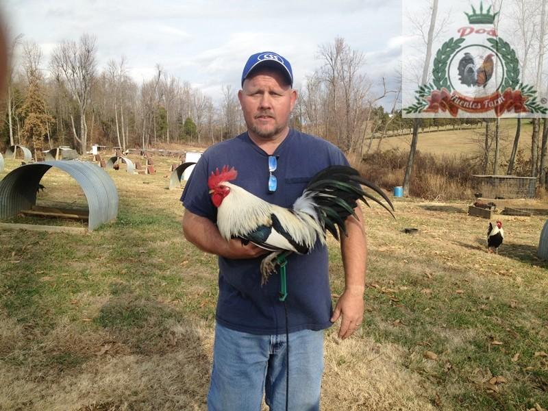 El criador Scott Maiden con un semental GREY BENNETT que mando a Dos Fuentes Farm