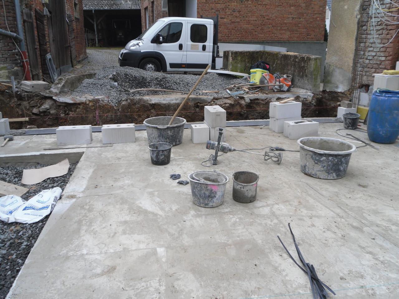 Einfamilienhaus - Bodenplatte für Anbau