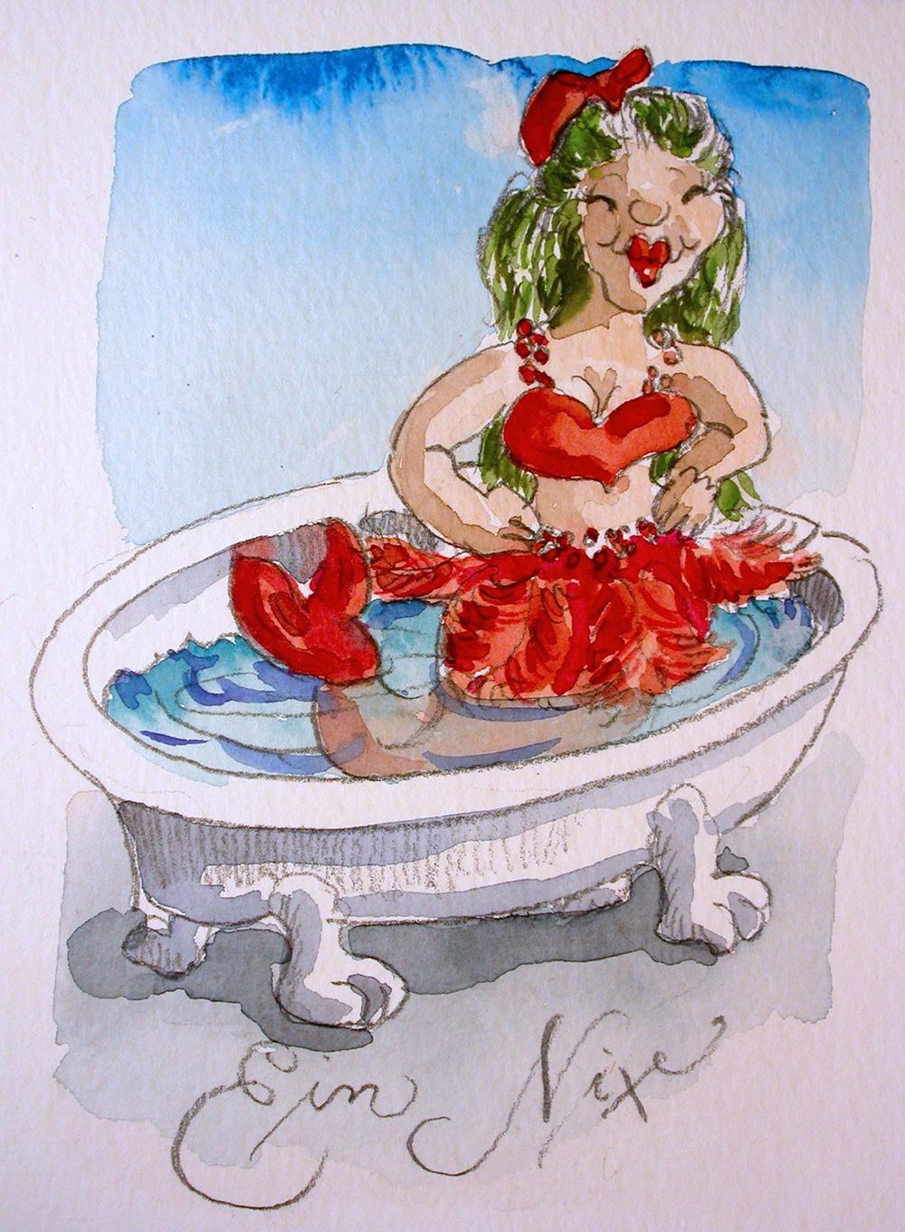 Nixe in der Badewanne