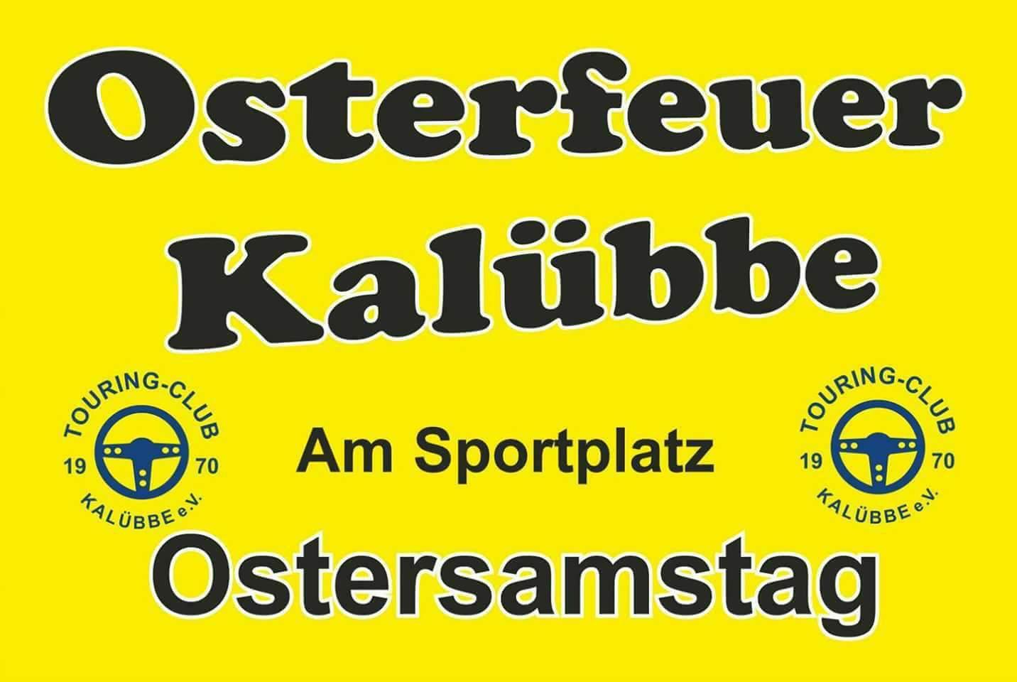 Unser diesjähriges Osterfeuer findet am 20.04.2018 auf der Gemeindewiese am Sportplatz statt!
