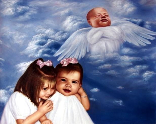 portrait-peinture-deces-bebe-deuil