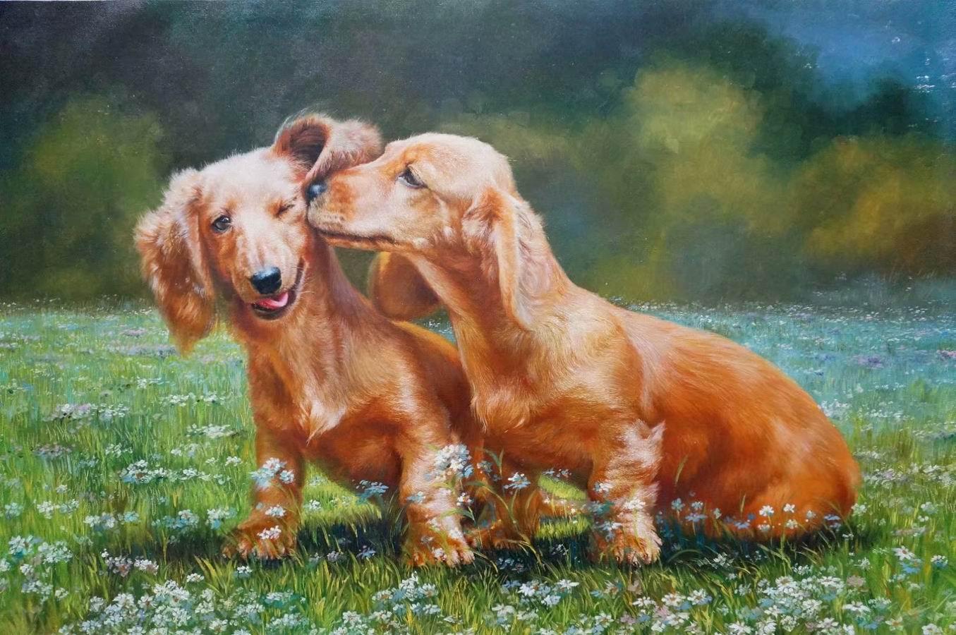 peinture-chien-portrait