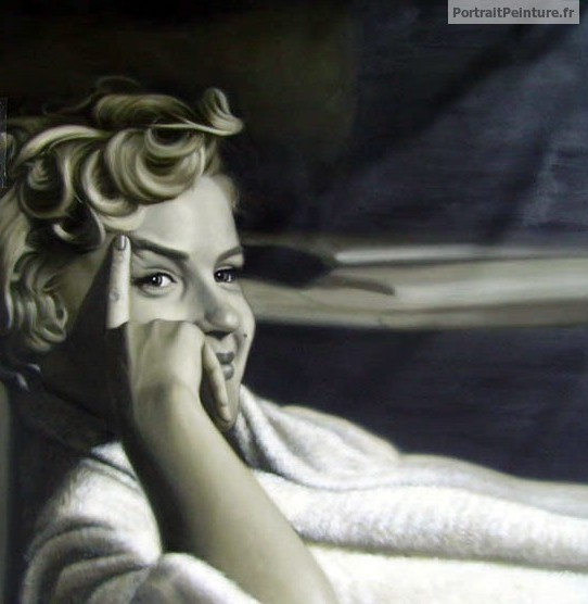 portrait-peinture-marylin-monroe