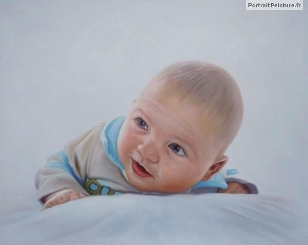portrait-peinture-bebe-bapteme