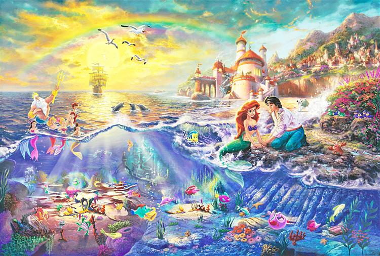 Thomas-Kinkade-peinture-la-petite-sirene