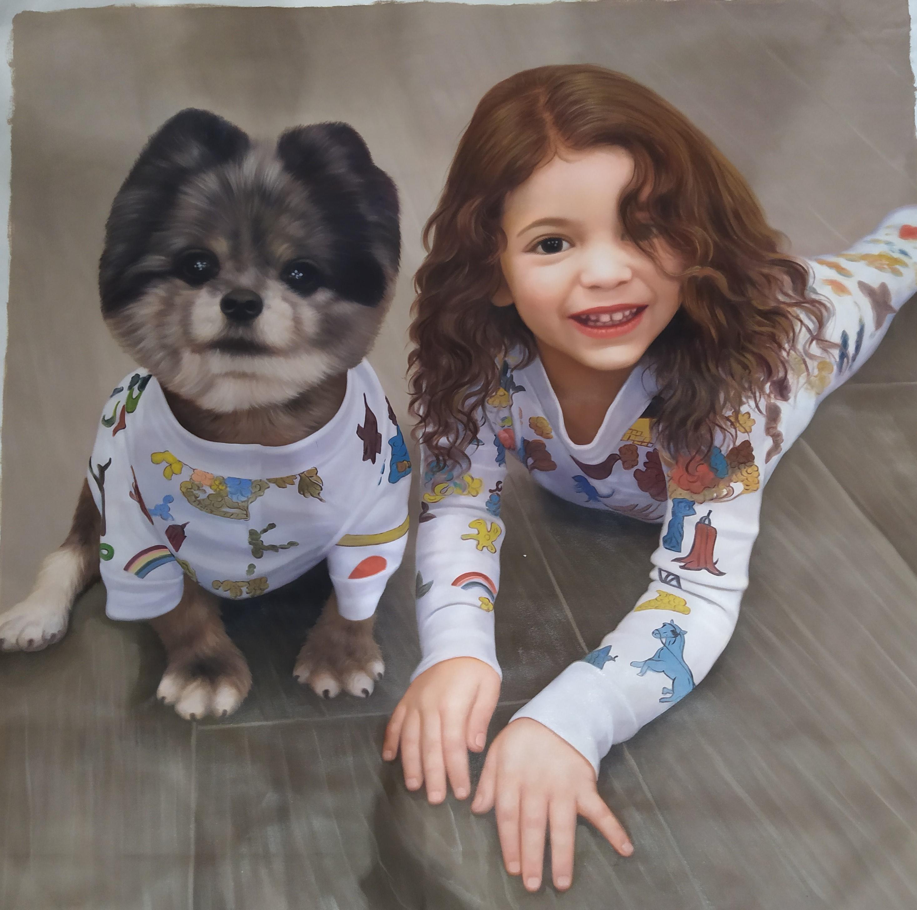 peinture-enfant-portraits-huile