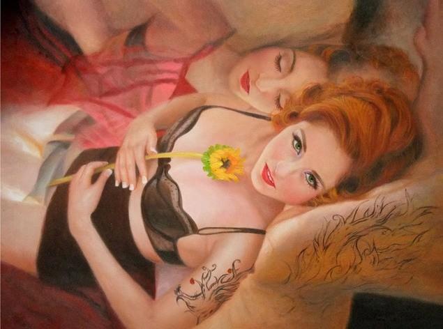 photo-de-femme-nue-peinture