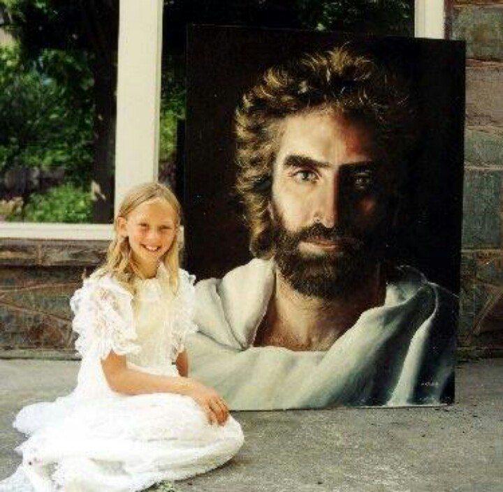 Akiane Kramarik a 8 ans, peinture de Jésus