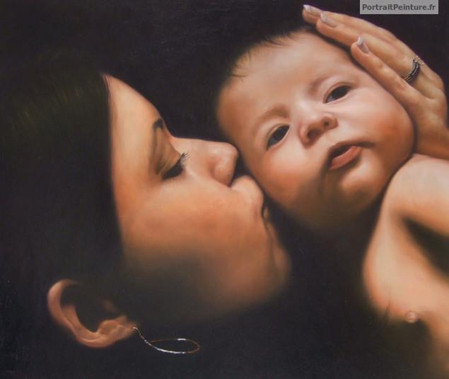 apres-photo-famille-peinture-portrait-bebe
