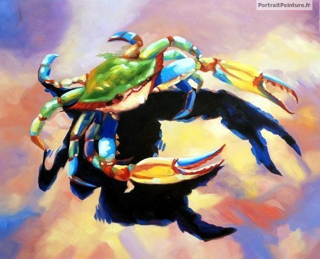 portrait-peint-crabe-huile