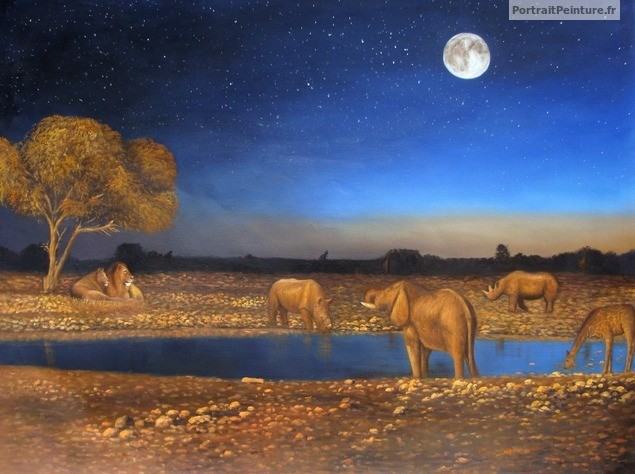 peintre-paysage-animal