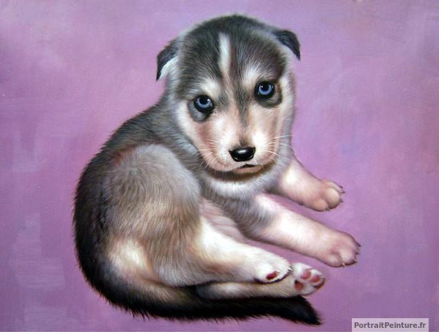 portrait-peinture-photo-chien-magnifique