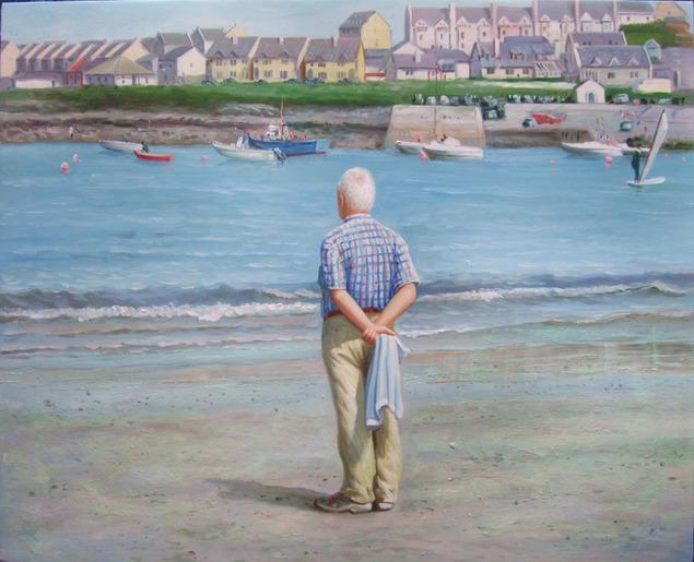 portrait-peinture-paysage-vieil-homme-plage-papi-grand-pere