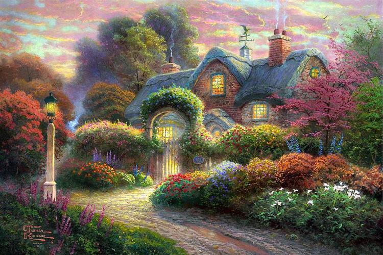 Thomas-kinkade-rosebud-cottage