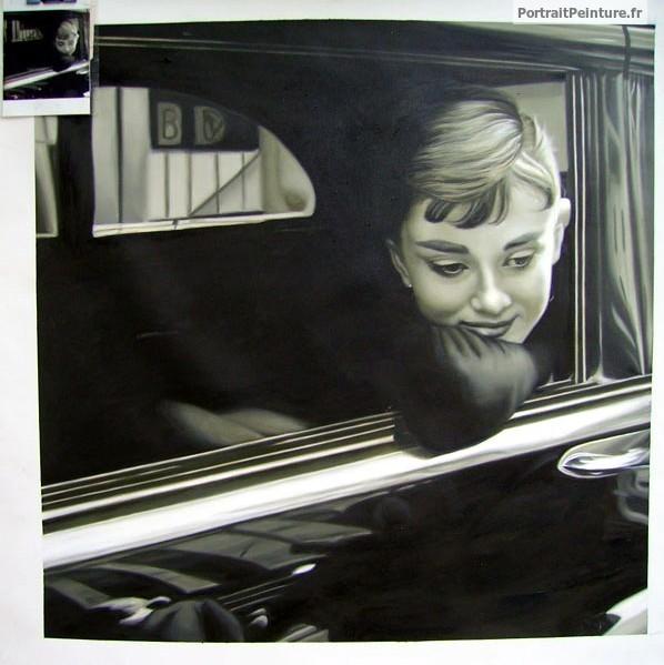 peinture-femme-noir-et-blanc-audrey-hepburn