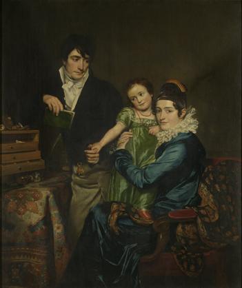 Peinture de Jean Francois Navez : La Famille Hemptinne