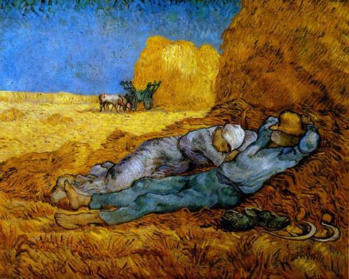 van-gogh-repos-après-le-travail-d'après-millet