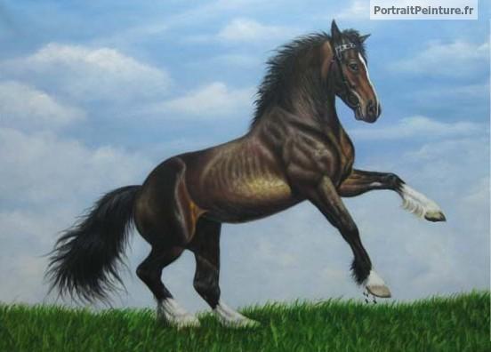 Peinture-equestre-cheval-portrait