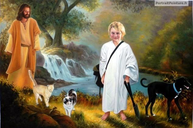 portrait-peinture-deuil-enfant-deces