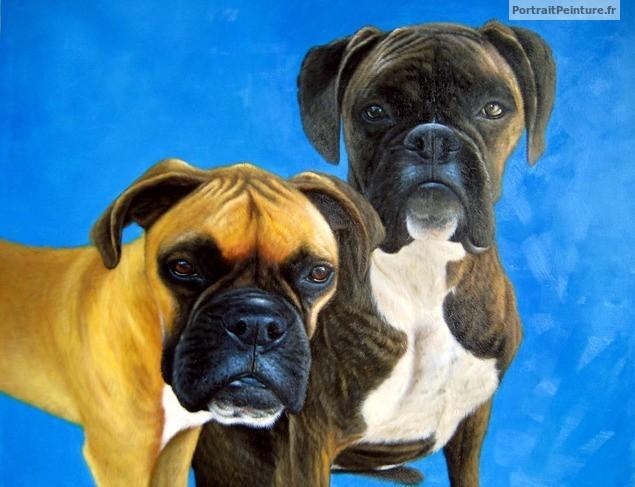portraits-chiens-peinture-huile-portrait