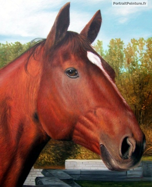 peinture-cheval-d-apres-photo