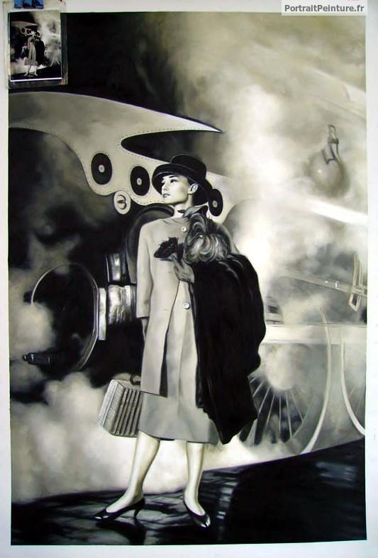 portrait-peinture-tableau-noir-et-blanc