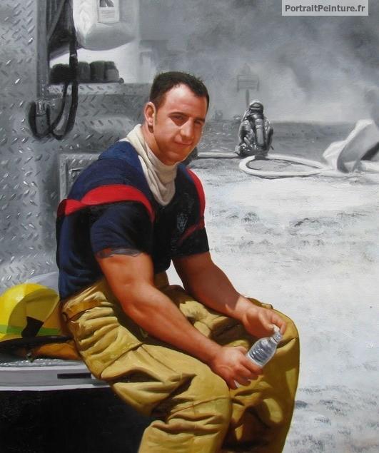 Portrait d 39 homme peinture d 39 homme peinture de militaire for Peinture chambre pour homme