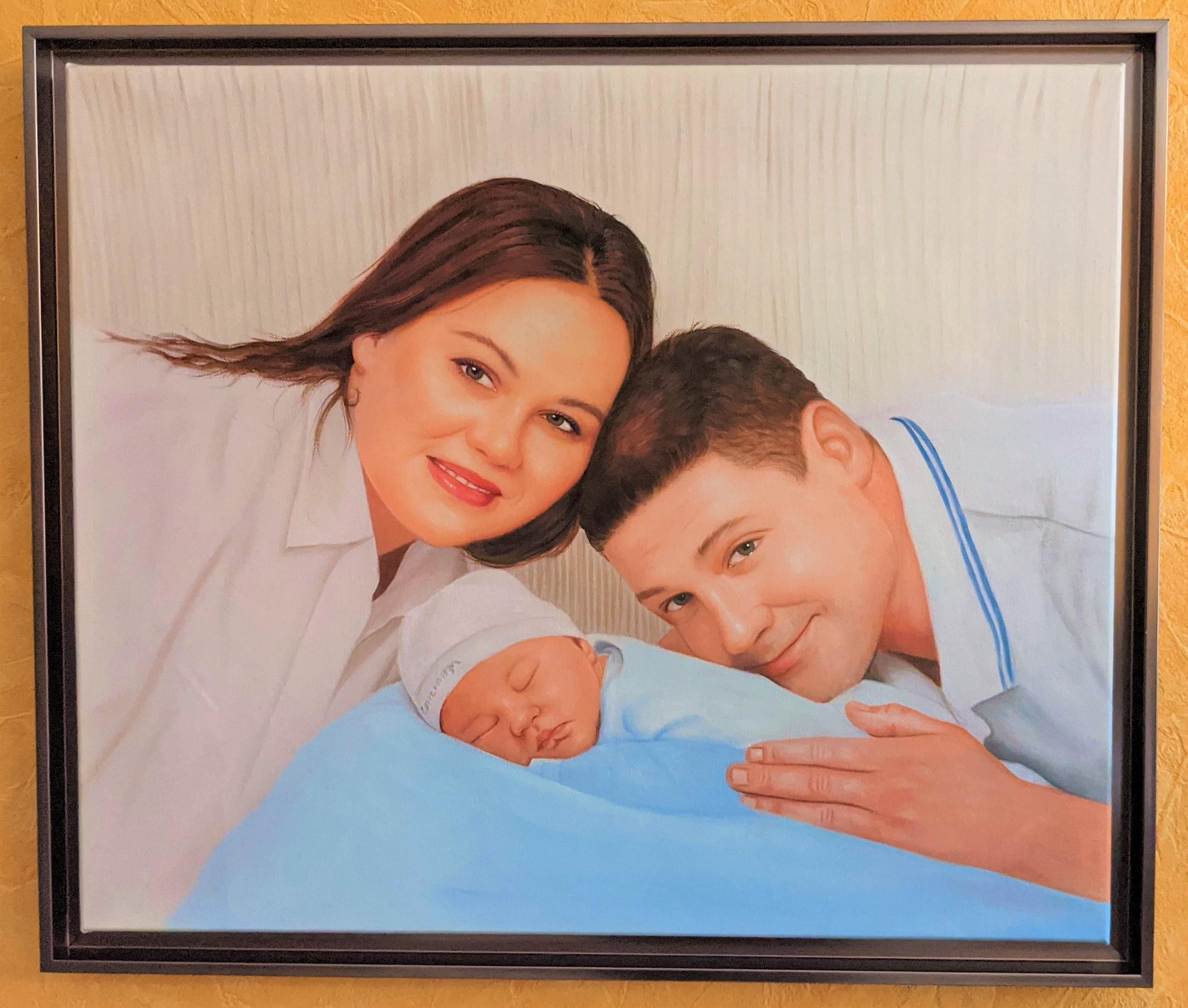 tableau-famille-peinture-huile