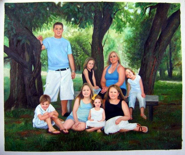 peinture-photo-famille-tableau