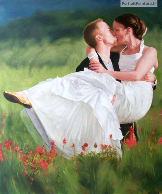 portrait-mariage-peinture-mariage-amour
