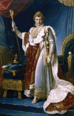 Napoléon dans ses robes impériales , par François Gérard,